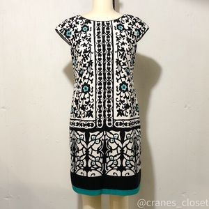 Liz Claiborne White Sheath Dress with Print 8